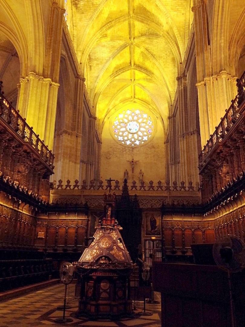 セビリア大聖堂の聖歌隊席