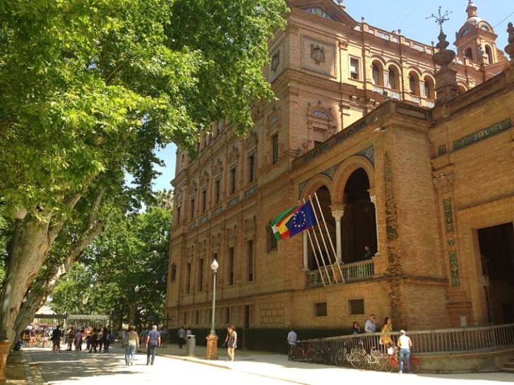 セビリアのスペイン広場の外国人事務所