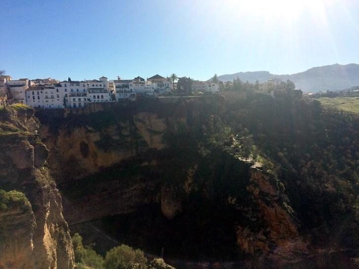スペインロンダの崖の上