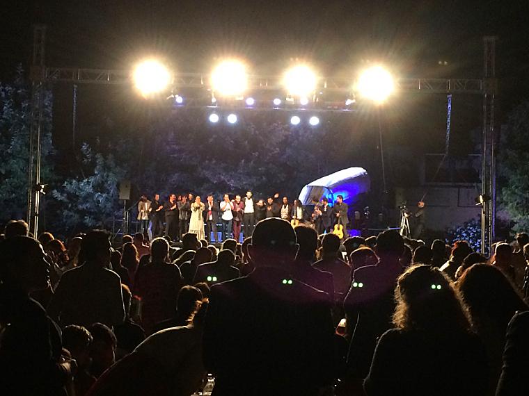 ウトレラのフラメンコフェスティバル「ポタヘ・ヒターノ」の会場