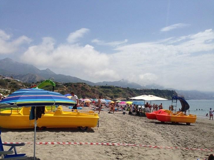 スペインネルハのビーチ