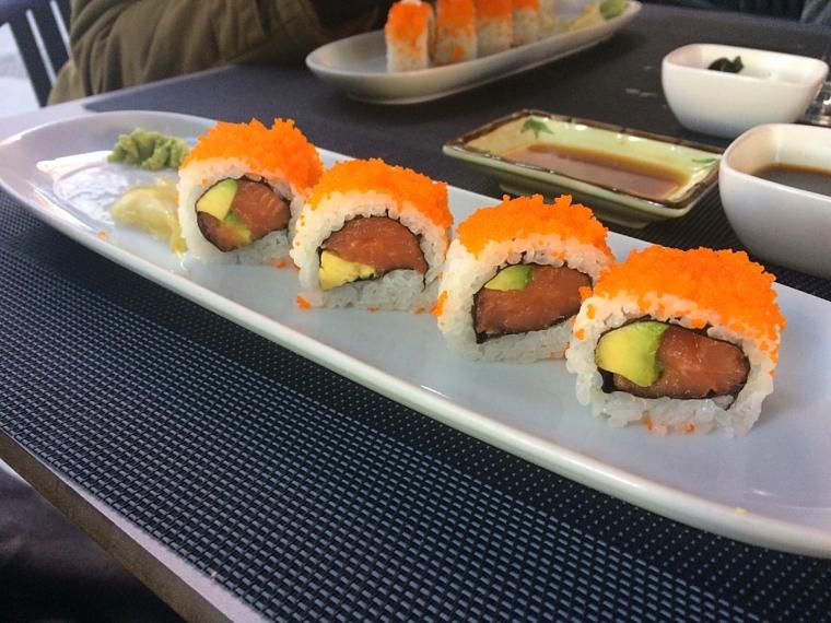 セビリア日本食レストラン山崎の巻き寿司