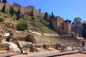 マラガのアルカサバとローマ劇場
