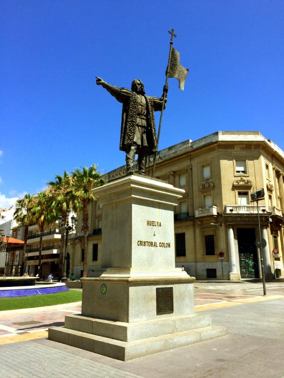 ウエルバのコロンブスの像
