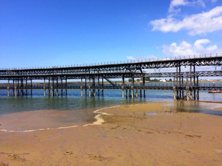 ウエルバのティントの桟橋