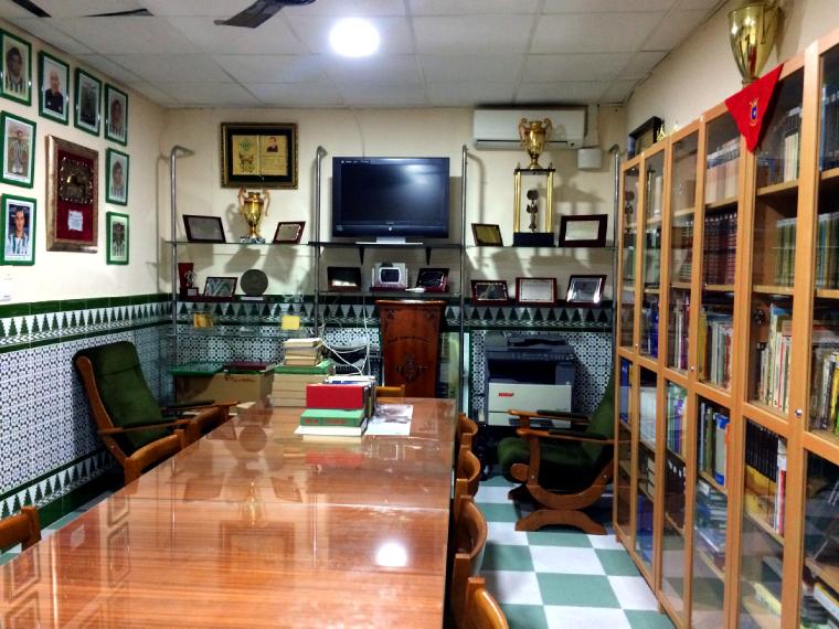 レアルベティスのペーニャの事務所