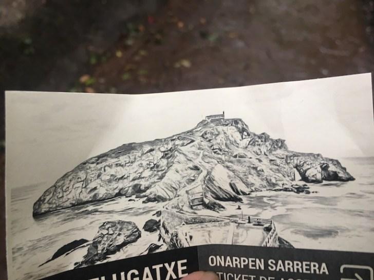スペインバスク地方のサン・フアン・デ・ガステルガチェ