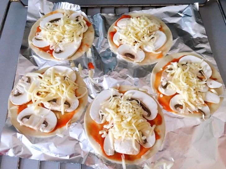 エンパナディージャ用の皮を使ったミニピザの作り方