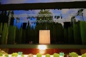 グラナダのヘネラリフェ庭園の野外劇場