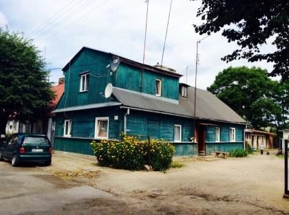 Węgrów, drewniane domy