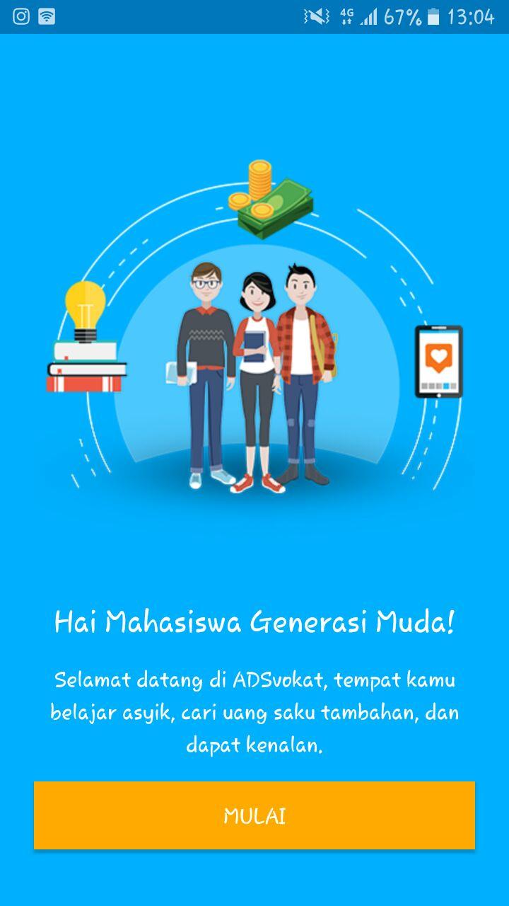 Aplikasi ADSvokat di Ponsel