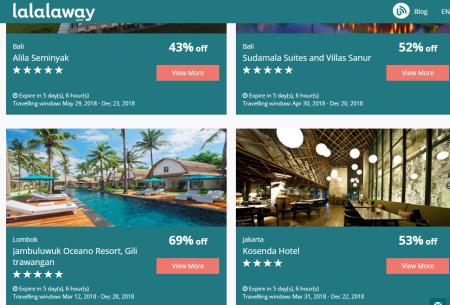 Pesan hotel di lalalaway dan dapatkan hotel mewah dengan harga murah