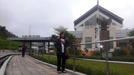 PLBN Entikong Tampak dari Sisi Negara Malaysia