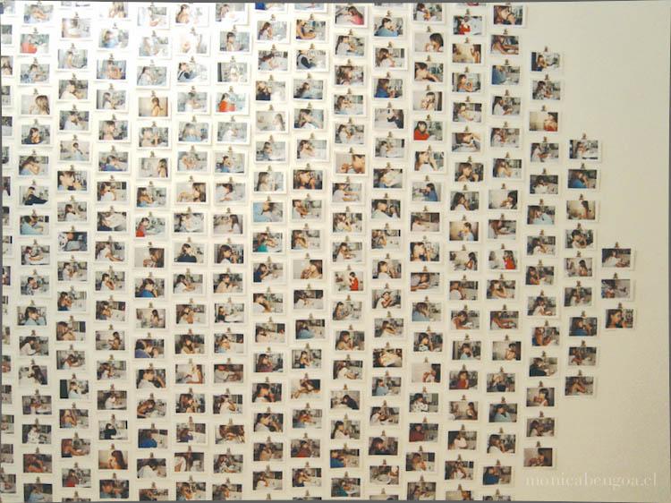 Instalación de 640 fotografías color de 8,7 x 12,7 cm. c/u.