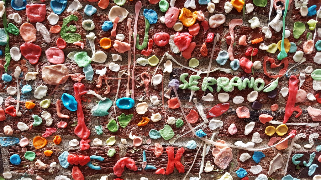 art of seattle gum wall straight on