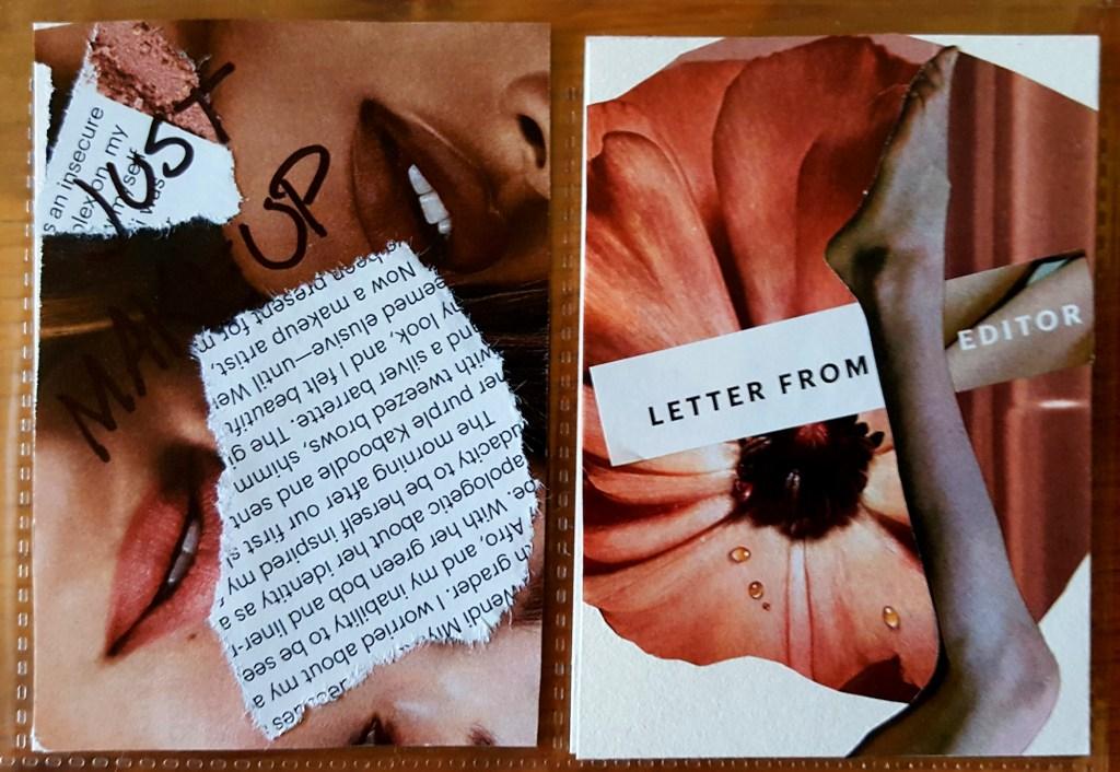 magazine make artist trading cards
