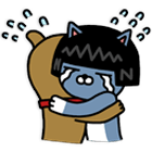 Kakao Friends Frodo and Neo crying and hugging