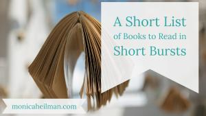 Short Burst Books Title Image with book hanging on a string