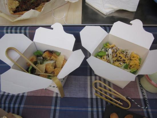 ensaladas: césar y oriental