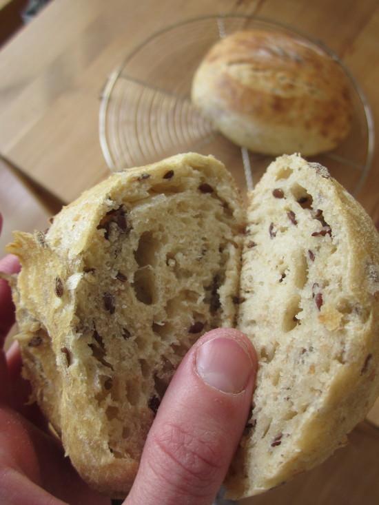 pan en sartén por dentro