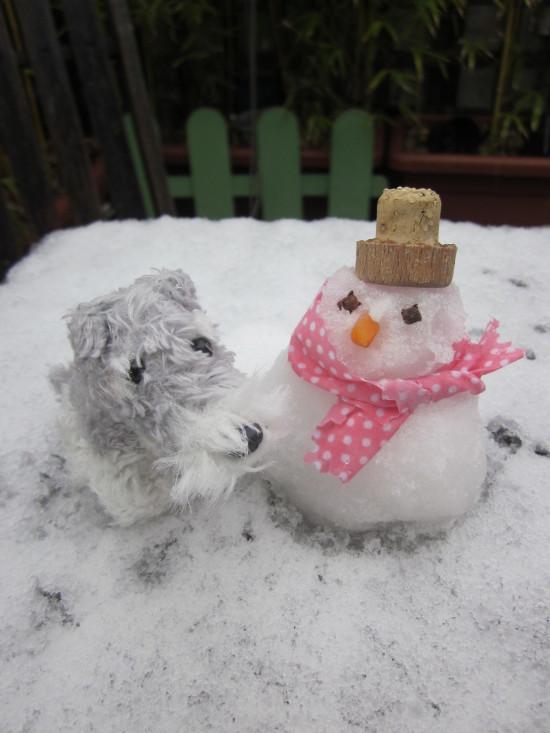 nathaniel y el moñeco de nieve