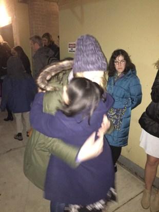11. Maria hugs Monica