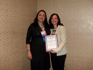 At NECTFL, NYC, 2009 with Dr Laura Franklin,