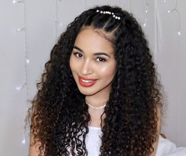 cute hairstyles for naturally curly hair: the curls twist