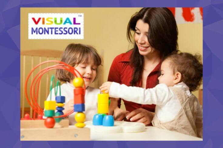 Visual Montessori offers an online preschool curriculum for moms and caretakers