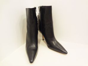 Manolo Blahnik Chain Ankle Boots with Lock and Key (Size 10) - $239