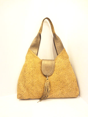 Vangreg Beige Leather Bag - $139