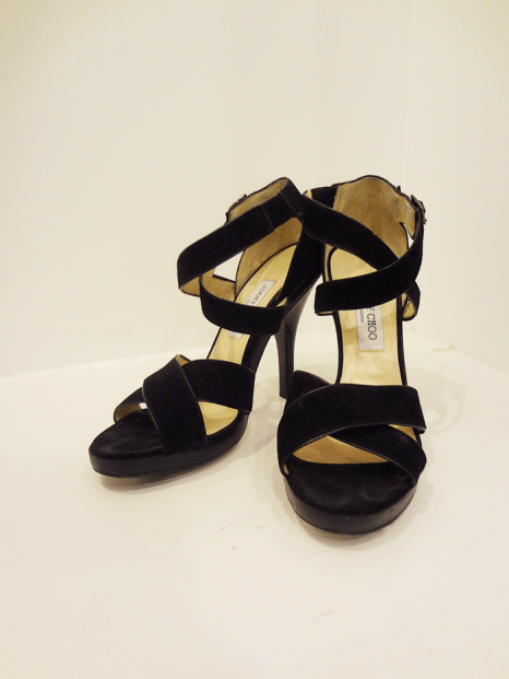 Jimmy Choo Black Suede Heels - $279