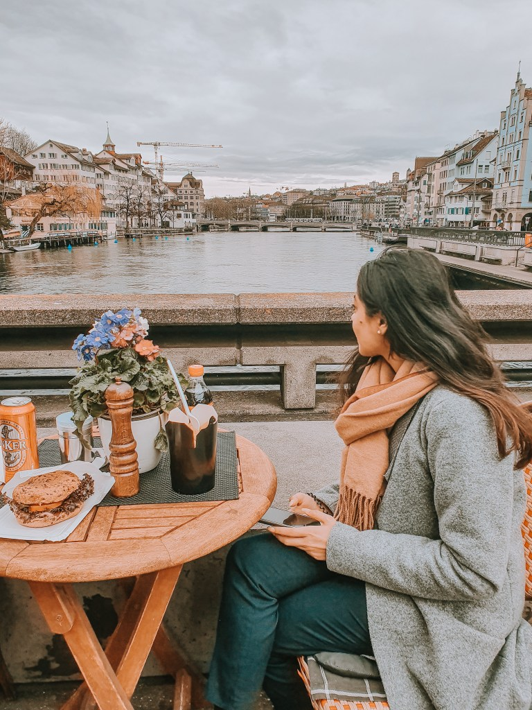 Eating At the Pop - Up Food Stalls With a View of Zurich's Scenic Old Town