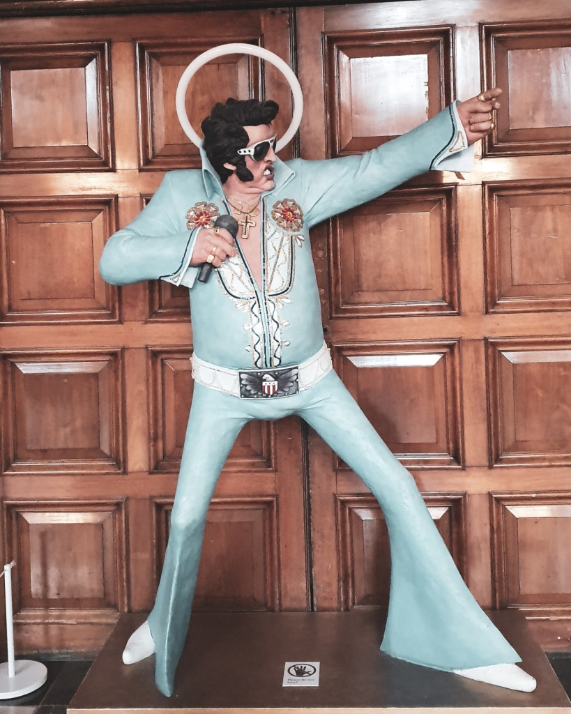 Iconic Elvis Presley Statue in Kelvingrove Art Gallery and Museum