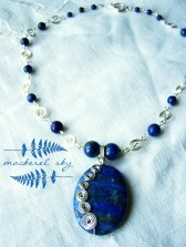 Sterling silver and lapis lazuli. 2013
