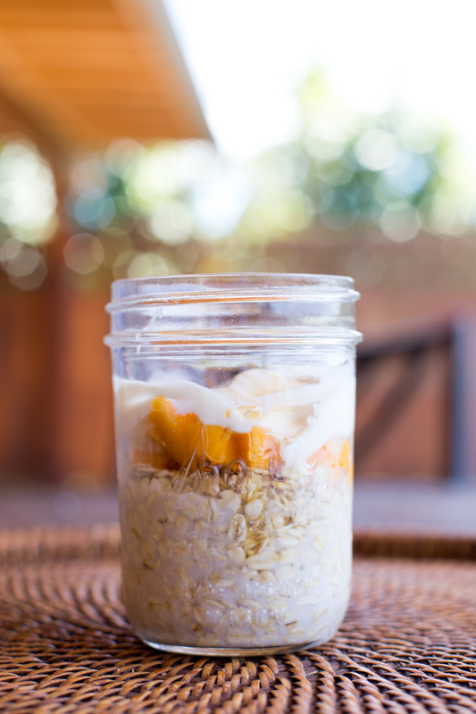 papaya cream oatmeal jars