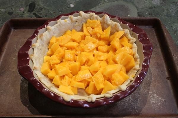 Papaya pie step one