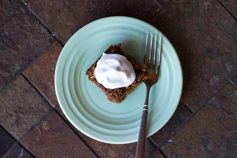 baked ginger oatmeal cake