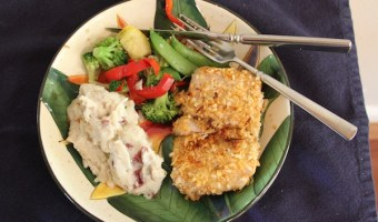 Coconut Macadamia Crusted Mahi Mahi {Gluten Free or regular}