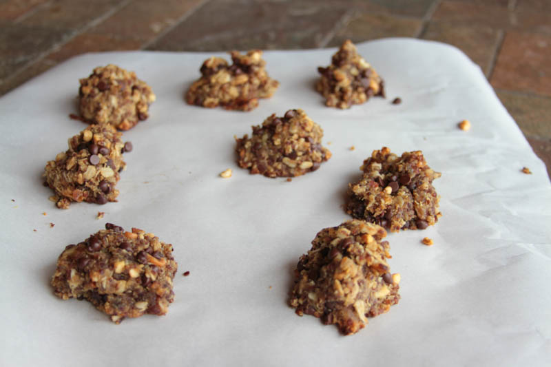 quinoa cookies, w/ PB/oats and dates