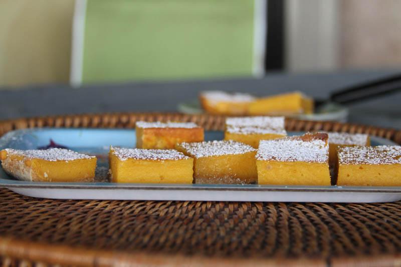tropical papaya bars