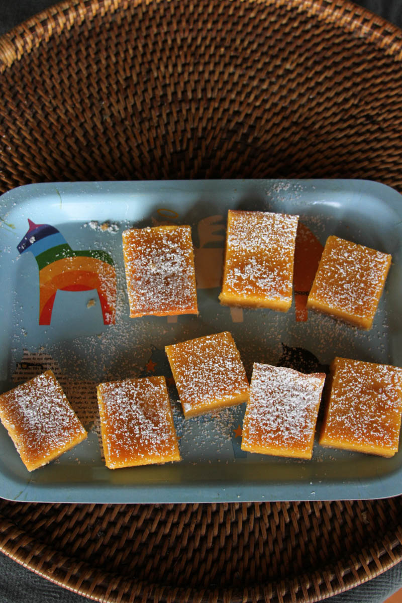 Ikea platter and papaya bars