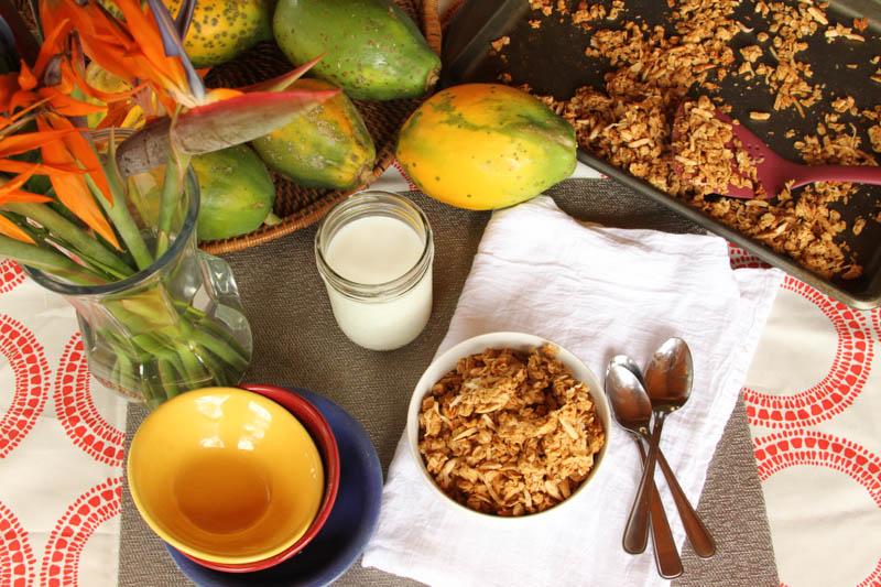 Coconut Peanut Butter Granola
