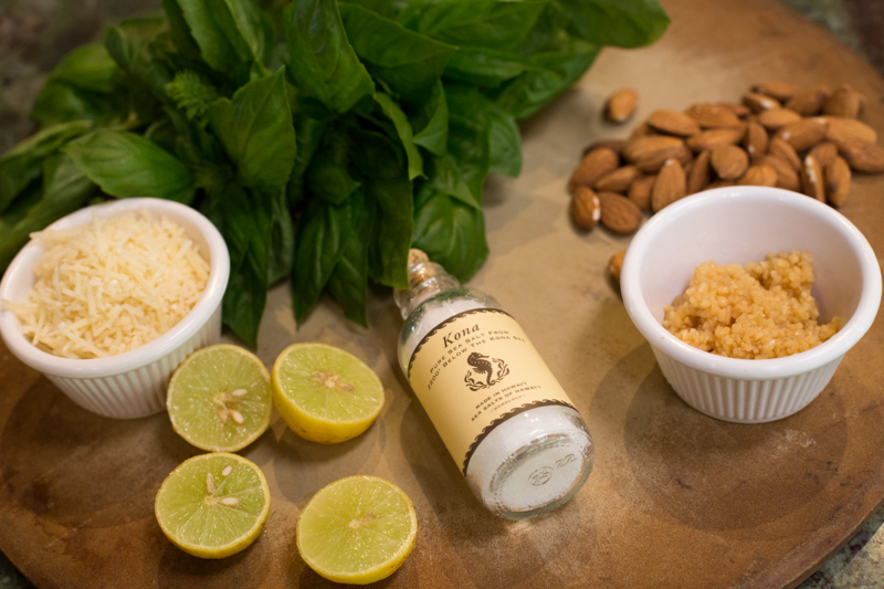 ingredients:  Almond basil pesto