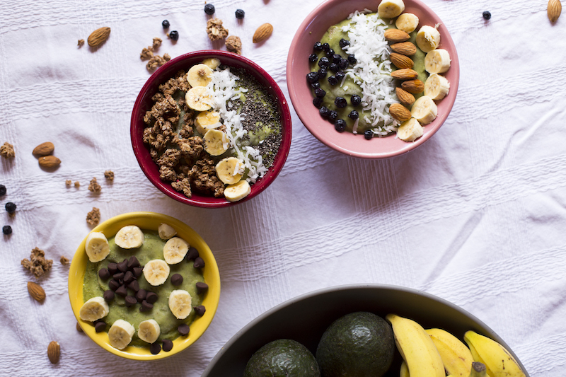 Tropical breakfast bowls