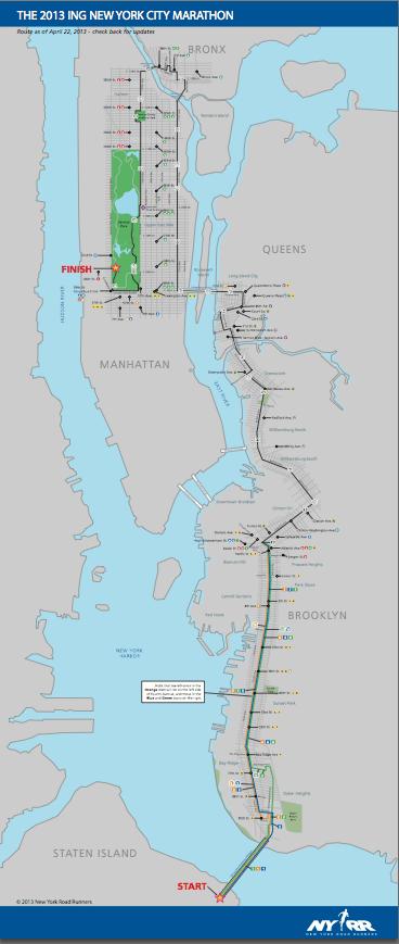 NYC Marathon course