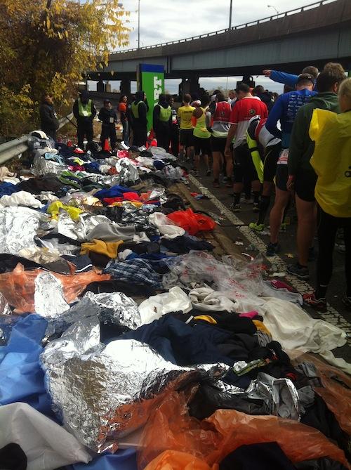 clothes dump NYC marathon