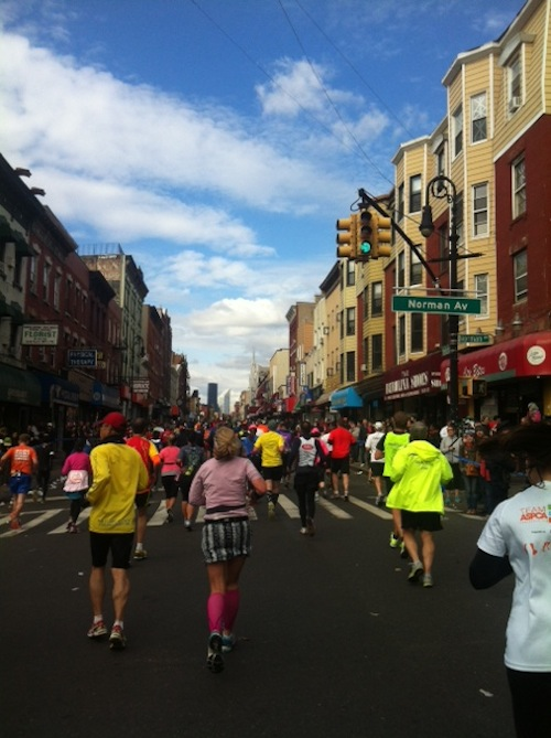 NYC Marathon running