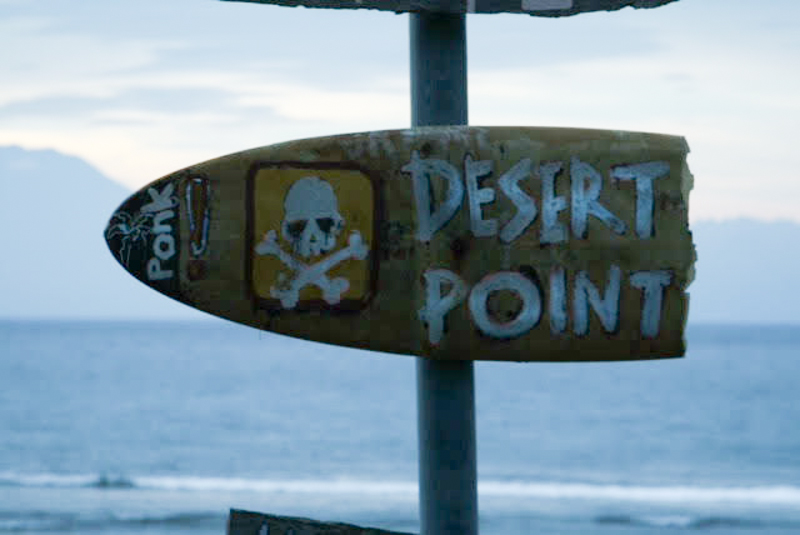 Desert point sign INDO