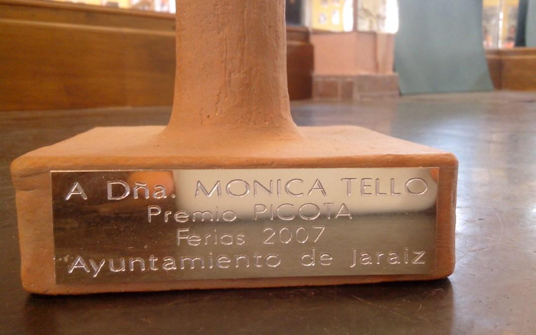 Premio Picota 2007 a Mónica Tello por su labor y aportación a la Cultura de la localidad Extremeña de Jaraíz de la Vera